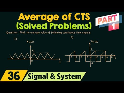 Average Value of Continuous Time Signals (Solved Problems) | Part 1