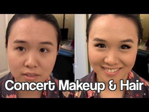 Concert Makeup & Hair
