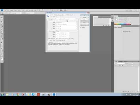 Change Colour Management settings in Photoshop