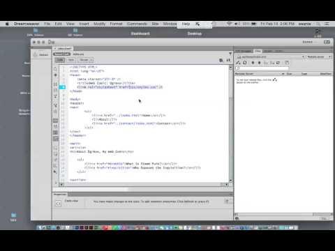 Linking An External Stylesheet In Dreamweaver