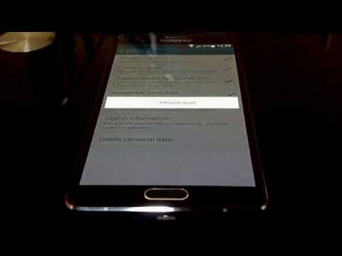 Galaxy Note 4 Tutorials - Clearing Internet Browser History, Cookies & Cache
