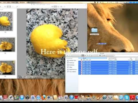 How to convert jpg to pdf and combine in one document on Mac OS X