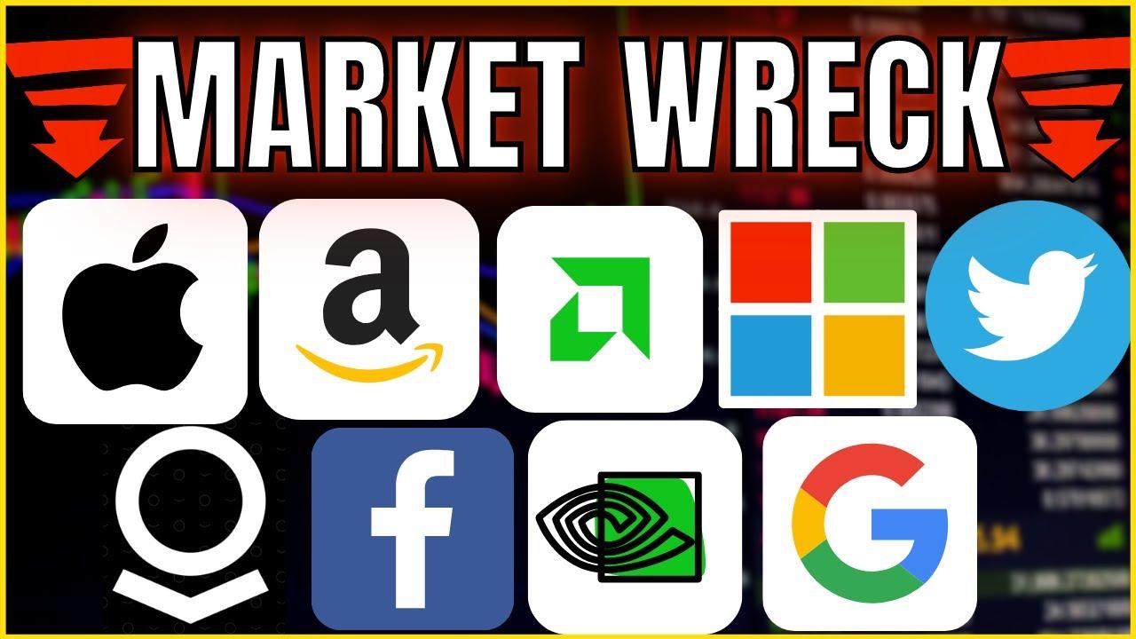 MASSIVE Market Sell-Off! Technical Analysis on Apple / Amazon / Palantir / AMD / Facebook / Nvidia