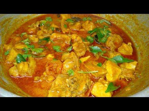 சிக்கன் கிரேவி/குழம்பு/Tamil Nadu Style Chicken curry without Coconut/South Indian Recipes