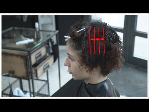 creative women's short curly haircut
