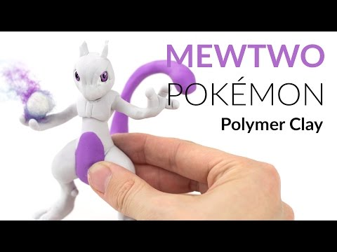 Mewtwo Pokemon – Polymer Clay Tutorial | Giovy'sHobby Collab