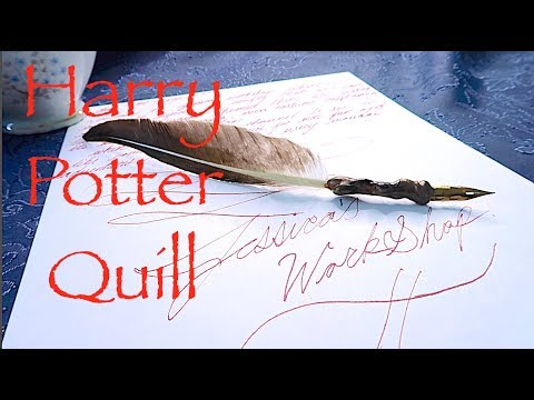 How To Make A Harry Potter Quill!!! Super Easy!!!