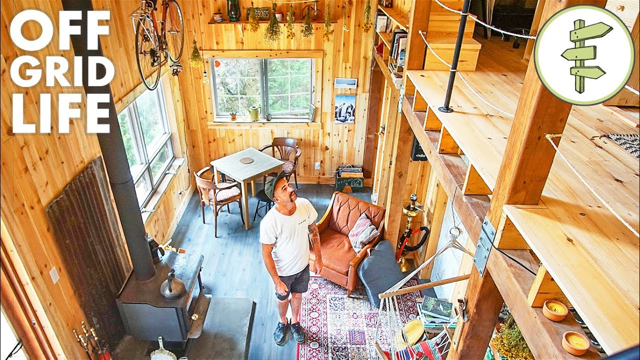 Man Living Off-Grid in His Incredible Self-Built Cabin