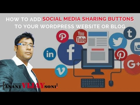 How to add Social Media Share Button to your WordPress Website & Blog