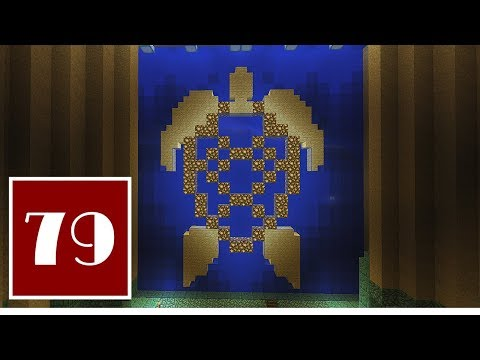 Minecraft Let's Play - 79 - Temple of the Night Turtle: Murals for the Ocean Monument