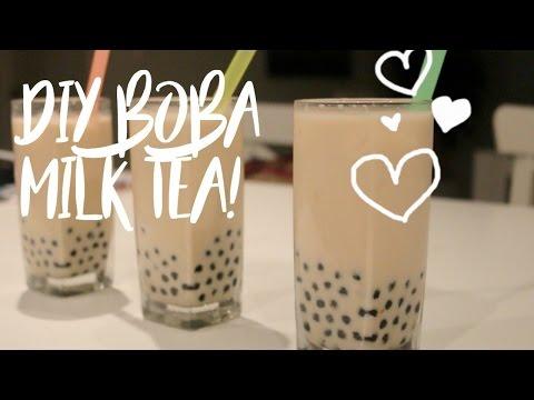 DIY Boba Milk Tea! // Easy Pearl Milk Tea Recipe
