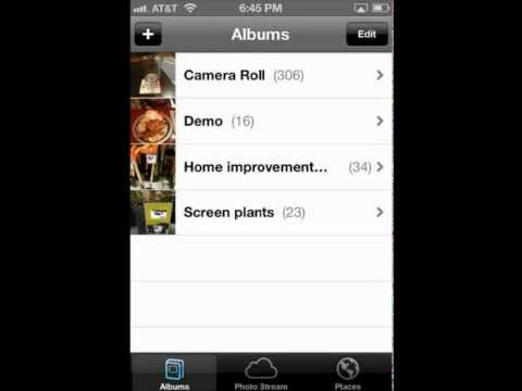How to use Shared Photo Streams on iOS6