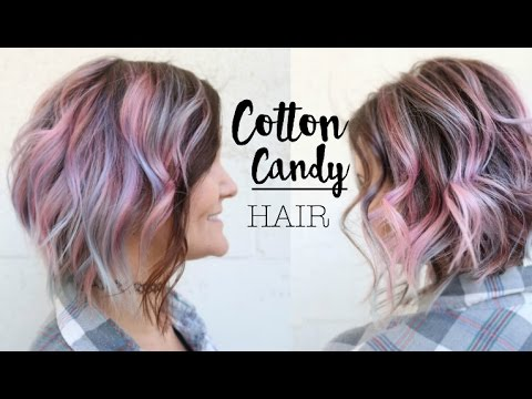 Cotton Candy Pink And Blue Pastel Hair Color Tutorial