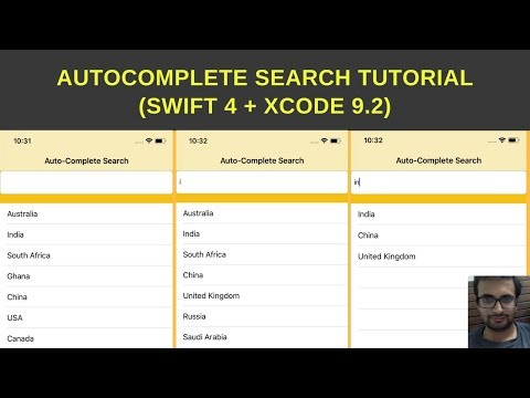 Swift tutorial :- How to create auto-complete search in swift 4