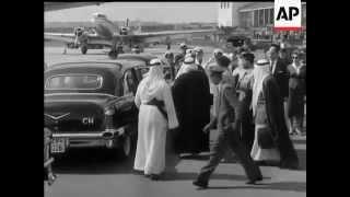 الملك سعود بن عبدالعزيز في شتوتغارت ألمانيا 1959م