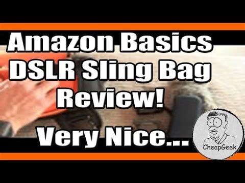 Amazon Basics DSLR Sling Bag Review! Very Nice...