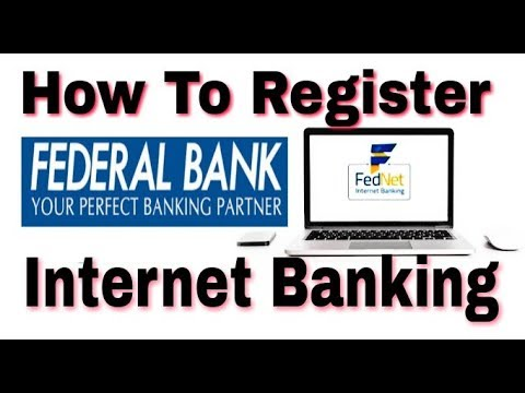 How to  Online Register Federal Bank Internet Banking