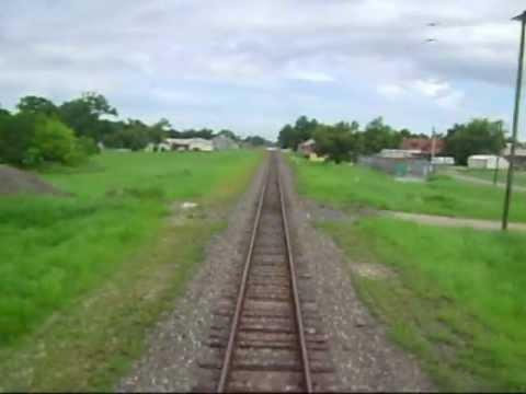 Leaving Houston on Amtrak's Sunset Limited (headed toward New Orleans)