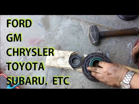 AC clutch bearing replacement GM Ford Chrysler Toyota Etc