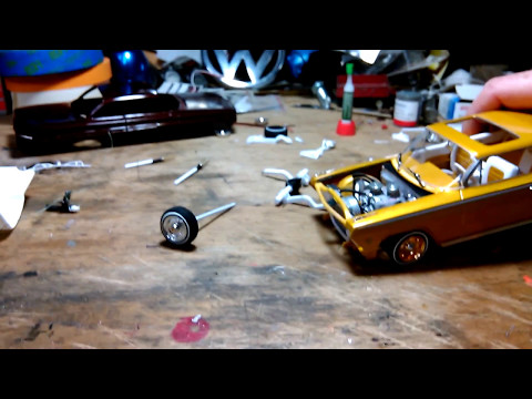 Lowrider Model Car setup and parts w/ '62 checkin the bumper, no weights