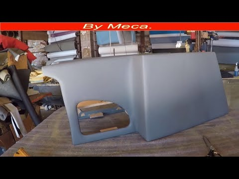 How to Make Truck Custom Center Console. Part 2-6 | Upholster center console  -  Woodworking