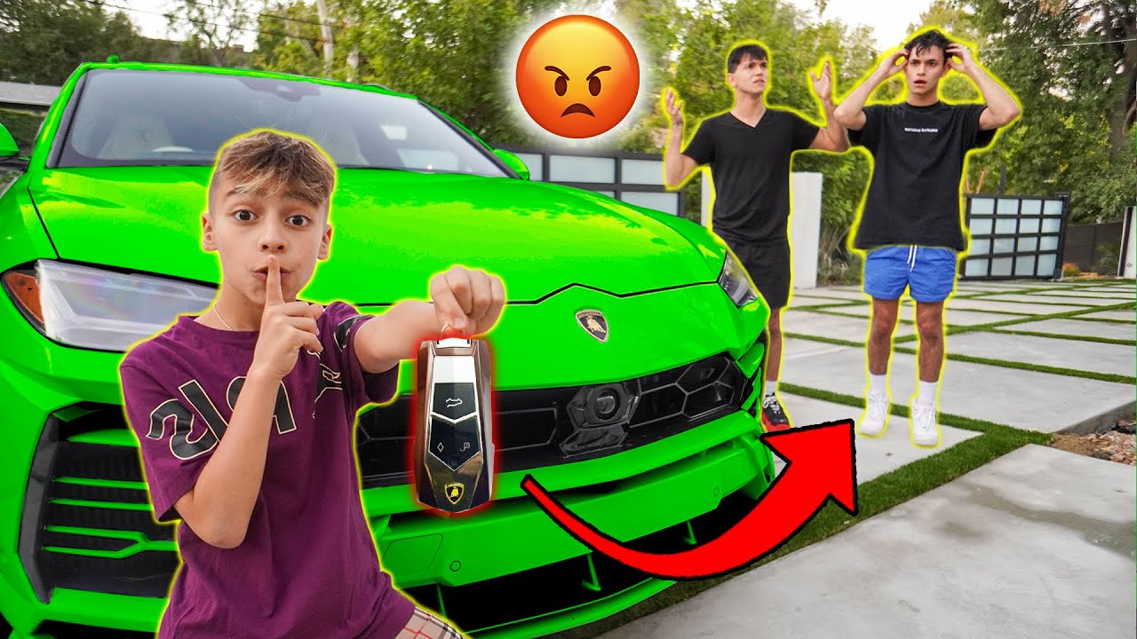 STOLEN Lamborghini PRANK on Lucas & Marcus! **They Got Mad**   The Royalty Family