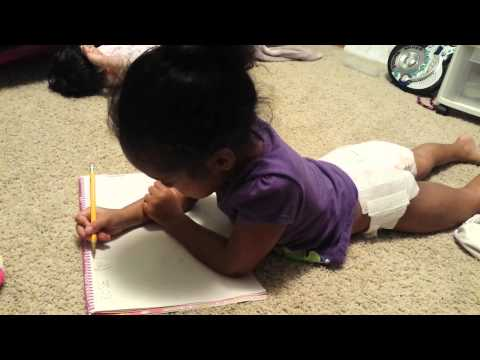 Mileah (age 4) learning how to write her name
