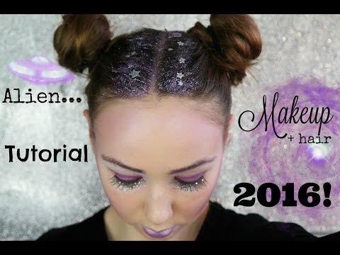 Space Girl Alien Makeup & Hair Tutorial 2016!