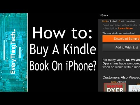 How to buy a Kindle Book on your iPhone?