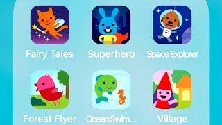 Sago Mini Fairy Tales,Superhero,Space Explorer,Forest Flyer,Ocean Swimmer,Village