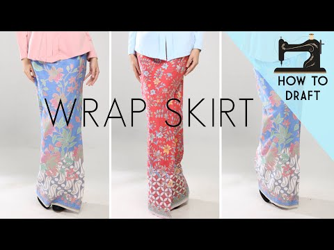 Drafting A Wrap Skirt Pattern | Front Fold Skirt | Kain Lipat Batik | Patternmaking