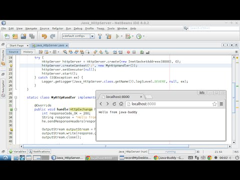 Simple example of Java HttpServer