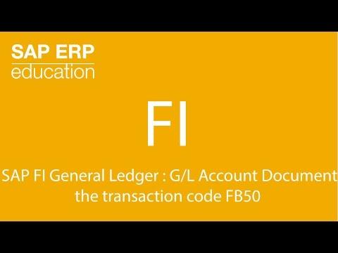 SAP FI General Ledger : FB50 - Enter G/L Account Document