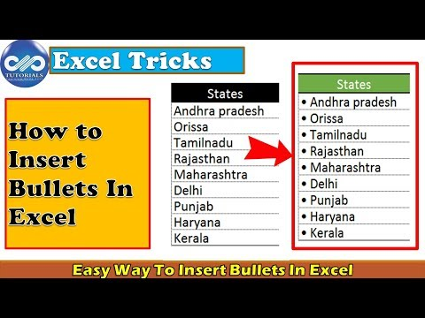 Excel Tricks : Easy Ways To Insert Bullets In Excel | Insert bullet points | Excel Tips |dptutorials