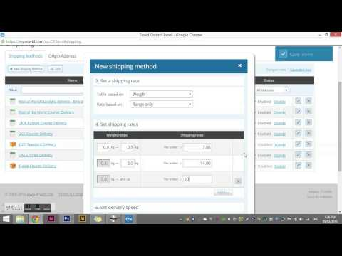 How to change your shipping options in ECWID from weight based to subtotal based.