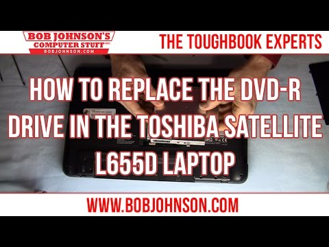 How to replace the DVD-R drive in the Toshiba Satellite L655D Laptop