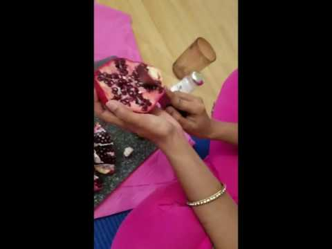 How to remove pomegranate pearls quick and  easier