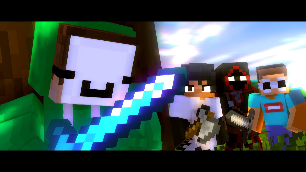 """Dream Animation ♪ """"Modded Griefers"""" - A Minecraft Animated Music Video"""