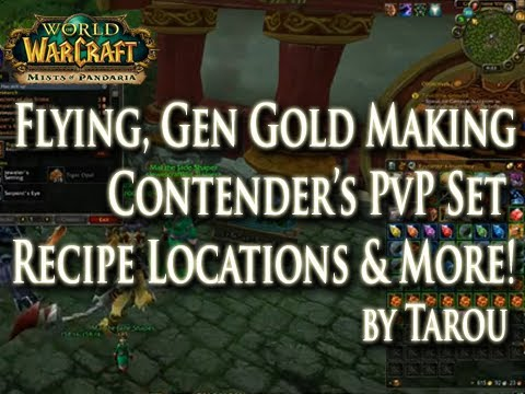MoP: How to Get Flying in Pandaria & Contender's PvP Patterns for BS, LW, Tailoring, & More JC!