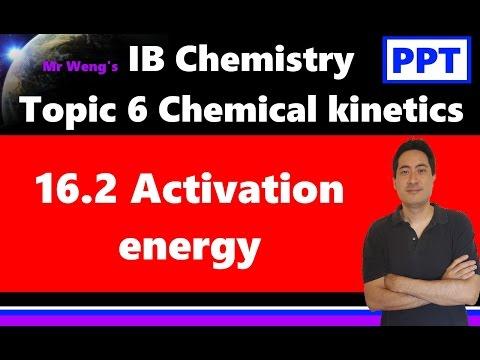 IB Chemistry Topic 6 Kinetics 16.2 Activation energy