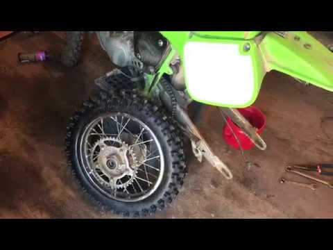 Kawasaki KX 60-Brand New Knobby  Rear Tire and Tube Installation