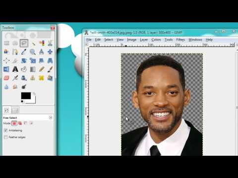 How to cut out a person in  gimp