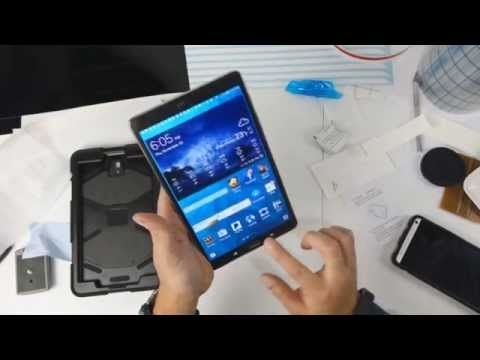 Galaxy Tab S 8.4 Glass Screen Protector Install