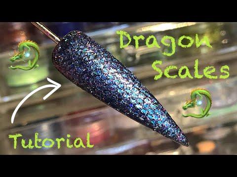 🐉 Dragon Scales Nail 🐉 | Nail Tutorial | Nail Sugar