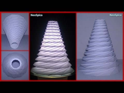 Conical Cylinder Origami Collapsible In Levels Based On Dodecagon