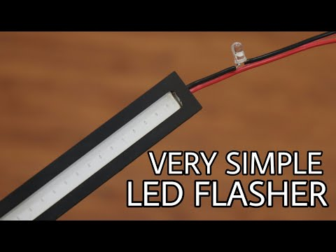 VERY SIMPLE 12V LED FLASHER | simple led flasher