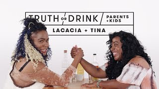 Parents and Kids Play Truth or Drink (Lacacia & Tina)