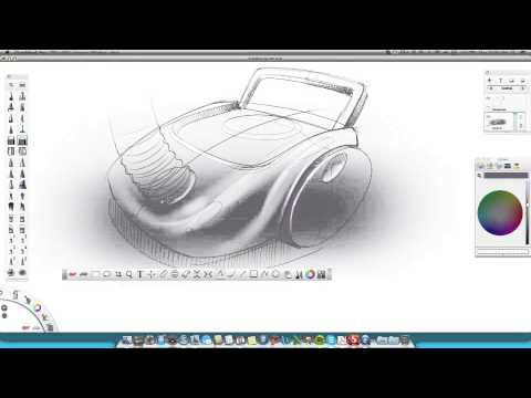 How to draw Product Design Sketching _Wacom
