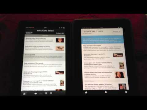 Reading on the Kindle Fire HD