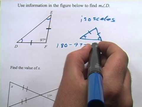 Angle Measures in Isosceles Triangles